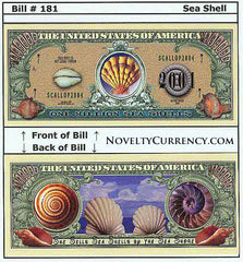 Sea Shell Novelty Currency Bill