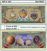 Image of Sea Shell Novelty Currency Bill