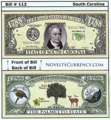 South Carolina - The Palmetto State - Commemorative Bill