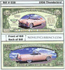 Image of 1956 Ford Thunderbird Classic Car Novelty Currency