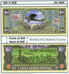 Air Mail Novelty Currency Bill