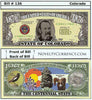 Image of Colorado - The Centennial State - Commemorative Novelty Bill