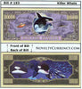 Image of Killer Whale (Orca) Novelty Currency Bill