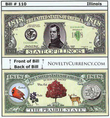 Illinois - The Prairie State - Commemorative Novelty Bill
