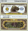 Image of Elephant Endangered Species Novelty Currency Bill