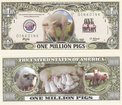 Pig Novelty Currency Bill