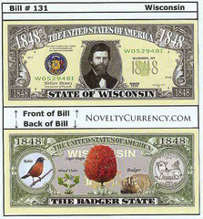 Wisconsin - The Badger State - Commemorative Novelty Bill