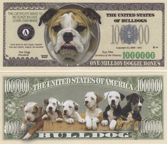 Bulldog Novelty Currency Bill