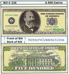 $500 Funny Money Novelty Currency Bill