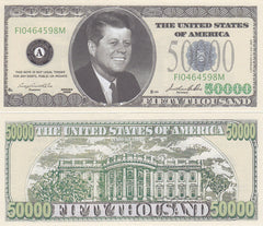 $50,000 Novelty Currency Bill