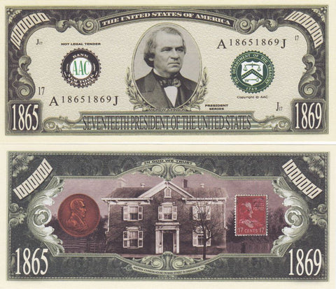 Andrew Johnson - 17th President Of The United States Bill