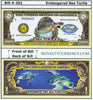 Image of Sea Turtle Endangered Novelty Currency Bill