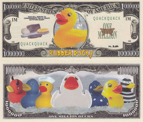 Rubber Ducky Novelty Currency Bill