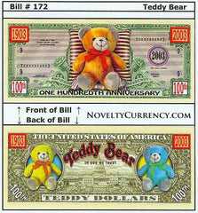 Teddy Bear Novelty Currency Bill