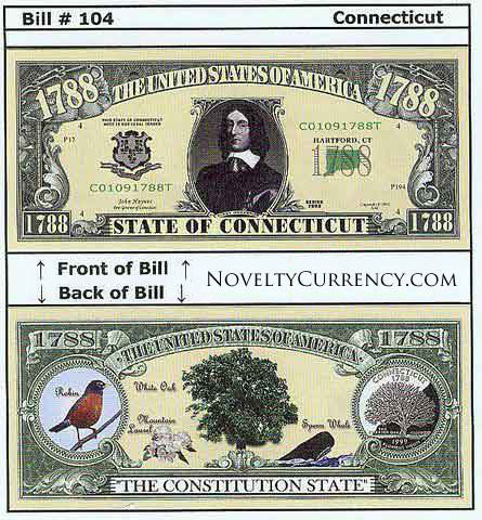 Connecticut - The Constitution State - Commemorative Bill