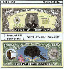 North Dakota - The Peace Garden State - Commemorative Bill