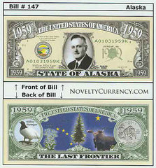 Alaska - The Last Frontier - Commemorative Novelty Currency Bill