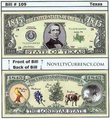 Texas - The Lone Star State - Commemorative Bill