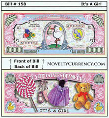 It's a Girl! Novelty Currency Bill