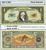 Image of Pony Express Mail Novelty Currency Bill