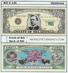 Oklahoma - The Sooner State - Commemorative Novelty Bill
