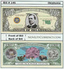 Image of Oklahoma - The Sooner State - Commemorative Novelty Bill