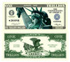 Image of One Trillion Dollar Funny Money Novelty Currency Bill