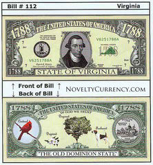 Virginia - The Old Dominion State - Commemorative Bill