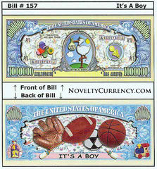 It's a Boy! Novelty Currency Bill