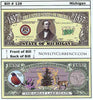 Image of Michigan - The Great Lake State - Commemorative Novelty Bill