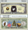 Image of Montana - The Treasure State - Commemorative Novelty Bill
