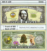 Image of Iowa - The Hawkeye State - Commemorative Novelty Bill