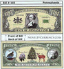 Image of Pennsylvania - The Keystone State - Commemorative Novelty Bill
