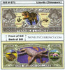 Image of Dinosaurs Lizards Novelty Currency Bill