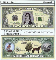 Missouri - The Show Me State - Commemorative Novelty Bill