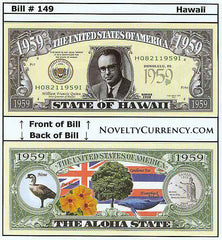 Hawaii - The Aloha State - Commemorative Novelty Currency Bill