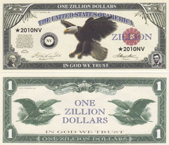 Zillion Dollar Novelty Currency Bill