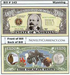 Wyoming - The Equality State - Commemorative Novelty Bill