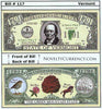 Image of Vermont - The Green Mountain State - Commemorative Novelty Bill