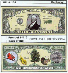 Kentucky - The Bluegrass State - Commemorative Novelty Bill