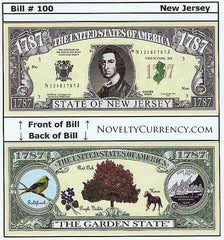New Jersey - The Garden State - Commemorative Novelty Bill