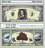 Image of New Jersey - The Garden State - Commemorative Novelty Bill