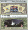 Image of Shuttle Challenger Novelty Currency Bill