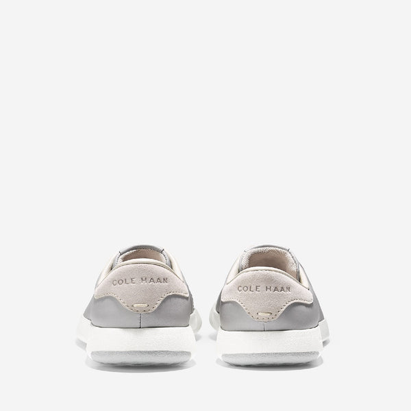 Silver Grandpro Tennis Lace Up Trainer