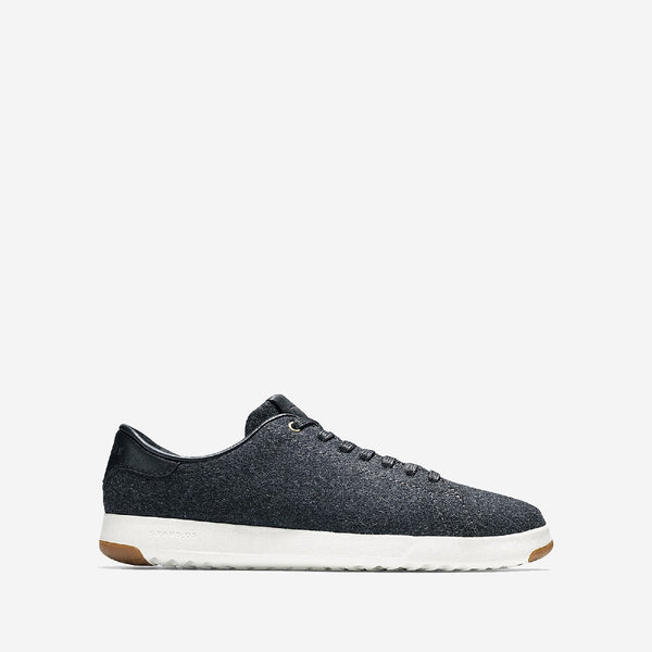 Grey Grandpro Tennis Lace Up Trainer