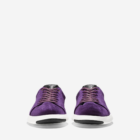 Women's Grandpro Tennis Lace Up Trainer Malbec Velvet
