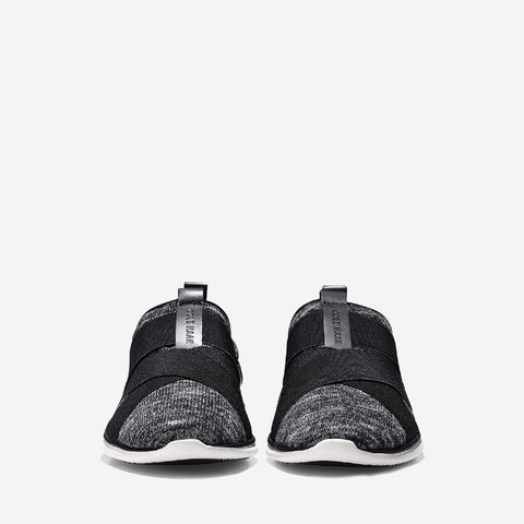 Black/White/Ivory Studiogrand Sport Knit Slip On Trainer