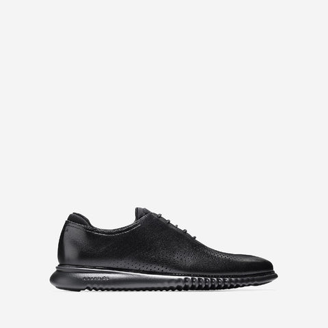 Black/Black 2.Zerogrand Laser Wingtip Oxford Shoe