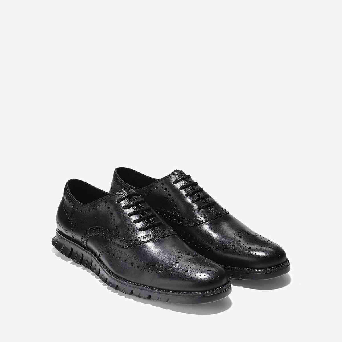 Men's ZERØGRAND Wingtip Oxford Black