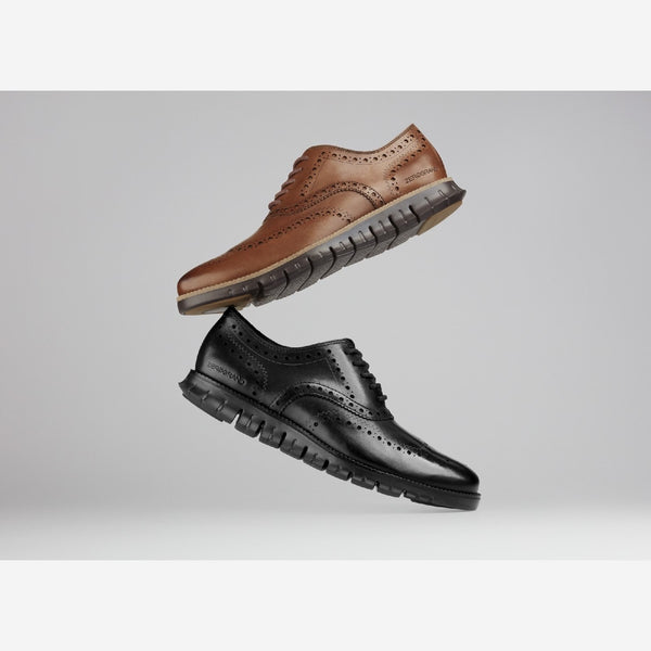 Blk/Blk Zerogrand Wingtip Oxford Shoe